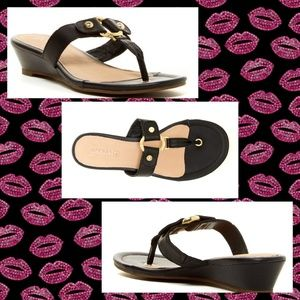 Sperry wedge thong sandals
